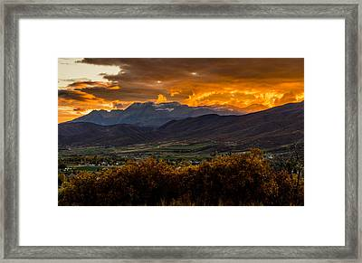 Midway Utah Sunset Framed Print