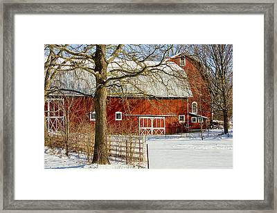 Midwest Barn Framed Print