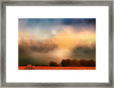 Midwest Harvest Moon Framed Print