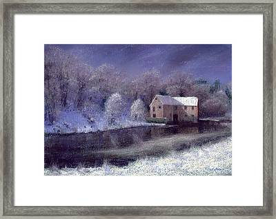 Midwinter At The Mill Framed Print