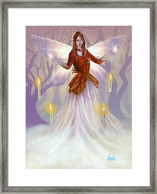 Midwinter Blessings Framed Print by Amyla Silverflame