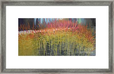 Midwinter's Fire Framed Print