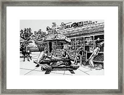 Midwood Common Market Drawing Framed Print