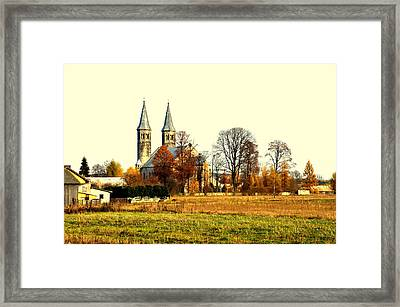 Miedzierza Church Framed Print by Henryk Gorecki