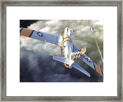 Mig Alley Framed Print by Gino Marcomini