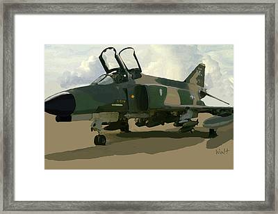 Framed Print featuring the digital art Mig Killer by Walter Chamberlain