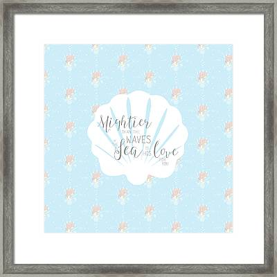 Mightier Than The Waves Framed Print by Precious Moments