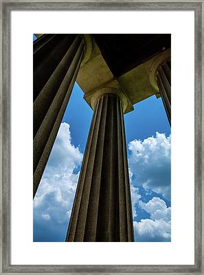 Mighty Columns  Framed Print