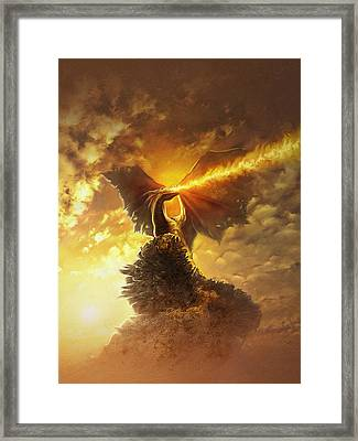 Mighty Dragon Framed Print