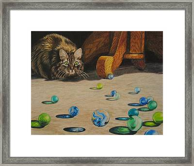 Framed Print featuring the drawing Mighty Hunter by Karen Ilari