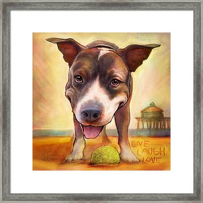 Live. Laugh. Love. Framed Print