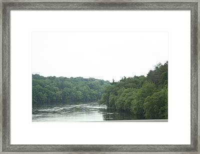Mighty Merrimack River Framed Print