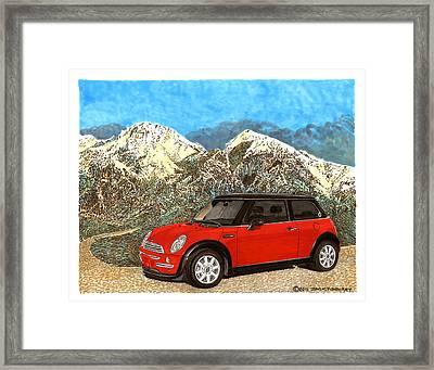 Mighty Mini Cooper S Framed Print