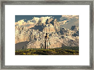Mighty Mountain Framed Print by Jim Coe