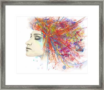 Migraine Framed Print by Angela A Stanton