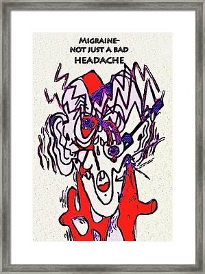 Migraine Framed Print by Diane E Berry