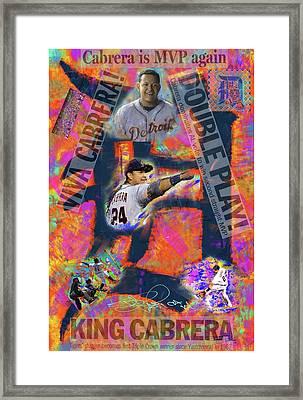 Miguel Cabrera Back To Back Framed Print
