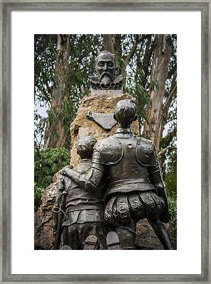 Miguel De Cervantes Memorial Framed Print by Anthony Citro
