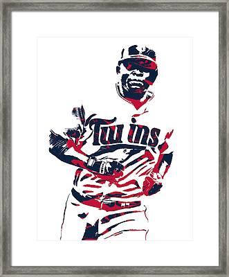 Miguel Sano Minnesota Twins Pixel Art 3 Framed Print