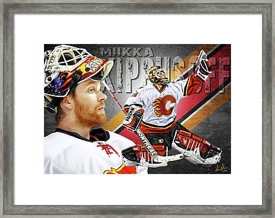 Miikka Kiprusoff Framed Print by Don Olea