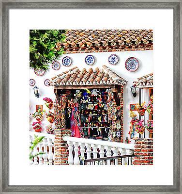 Mijas  Framed Print by Clare Bevan