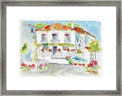 Mijas La Plaza De La Constitution Framed Print