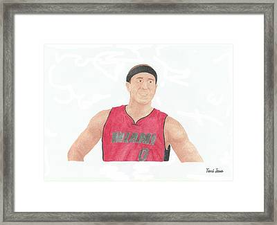 Mike Bibby Framed Print by Toni Jaso