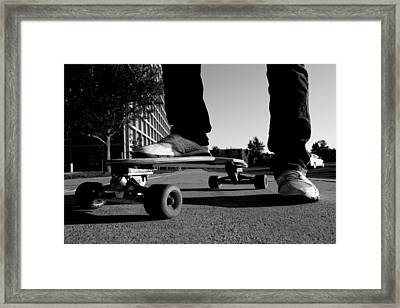 Mike Black And White Framed Print by Rob Engwer