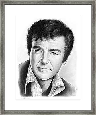 Mike Connors Framed Print