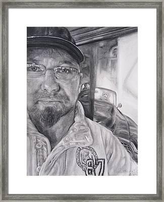 Mike Dennis Artist Framed Print by Adrienne Martino
