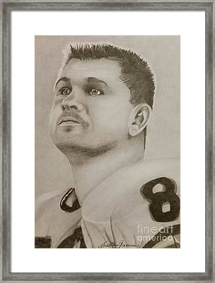 Mike Ditka Framed Print by Lorelle Gromus