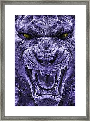 Mike In Purple And Gold Framed Print