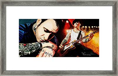 Mike Ness 'nuff Said Framed Print