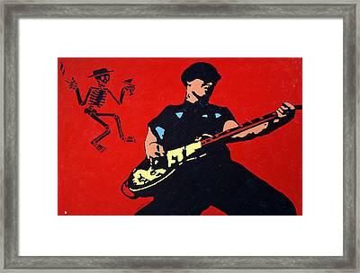 Mike Ness Framed Print by Steven Sloan