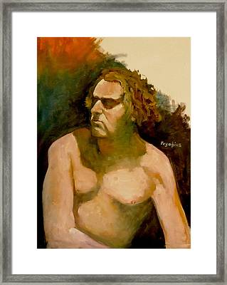 Framed Print featuring the painting Mike. by Ray Agius