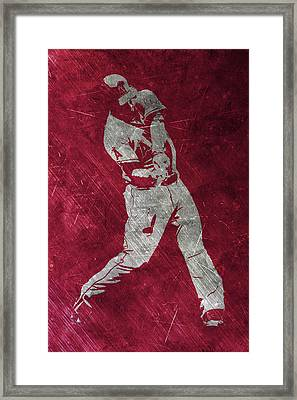 Mike Trout Los Angeles Angels Art Framed Print