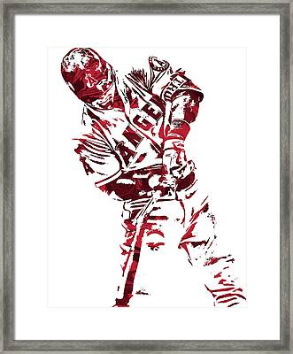 Mike Trout Los Angeles Angels Pixel Art 5 Framed Print