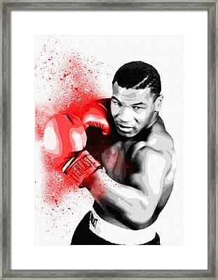 Mike Tyson - By Diana Van Framed Print by Diana Van