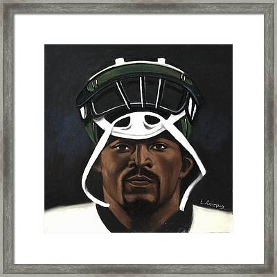 Mike Vick Framed Print by L Cooper