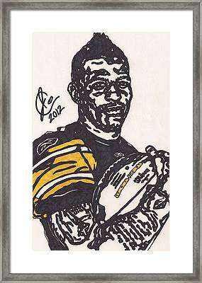 Mike Wallace 4 Framed Print by Jeremiah Colley