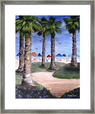 Mike's Hermosa Beach Framed Print