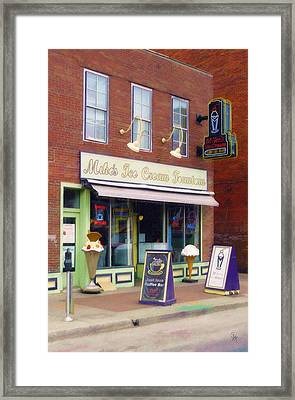 Framed Print featuring the painting Mike's Ice Cream Fountain by Sandy MacGowan