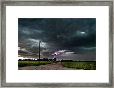 Mikey's Lightning  Framed Print