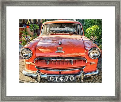 Miki's Car Framed Print