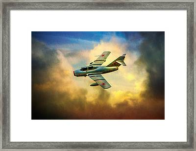 Framed Print featuring the photograph Mikoyan-gurevich Mig-15uti by Chris Lord