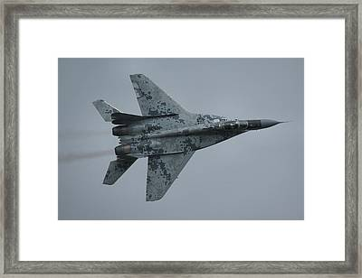 Framed Print featuring the photograph Mikoyan-gurevich Mig-29as  by Tim Beach