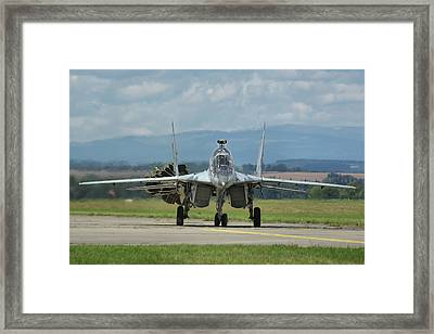 Framed Print featuring the photograph Mikoyan-gurevich Mig-29ubs by Tim Beach