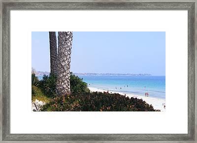 Mil Palmeras Beach Framed Print by Jacqueline Essex