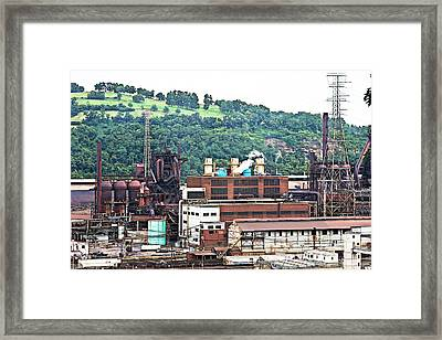 Mill Town Framed Print by Melinda Dominico