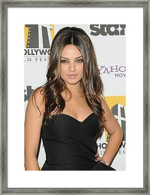 Mila Kunis At Arrivals For 14th Annual Framed Print by Everett